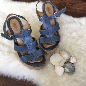 Born Sandal wedges in blue
